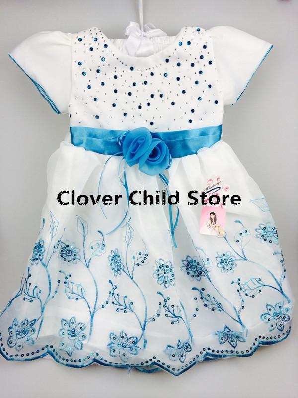 2014 New fashion Free shipping HOT Selling girsl dress Children Kids Clothing Girls Dresses Flower Design Princess Dress W85(China (Mainland))