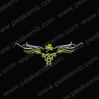 50Pcs/Lot Free Shipping Irish Shamrock Iron On Rhinestones T Shirt Transfer For St. Patrick'S Day Free Custom Design
