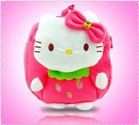 sweet hello kitty Strawberry Cartoon baby School shoulder plush bags Bolsas  Backpack for girls Mochila The Knapsack free ship