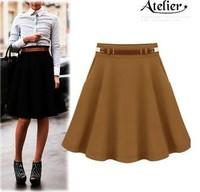 New 2014 skirts women woolen expansion bottom bust skirt female ruffle plus size high waist skirt