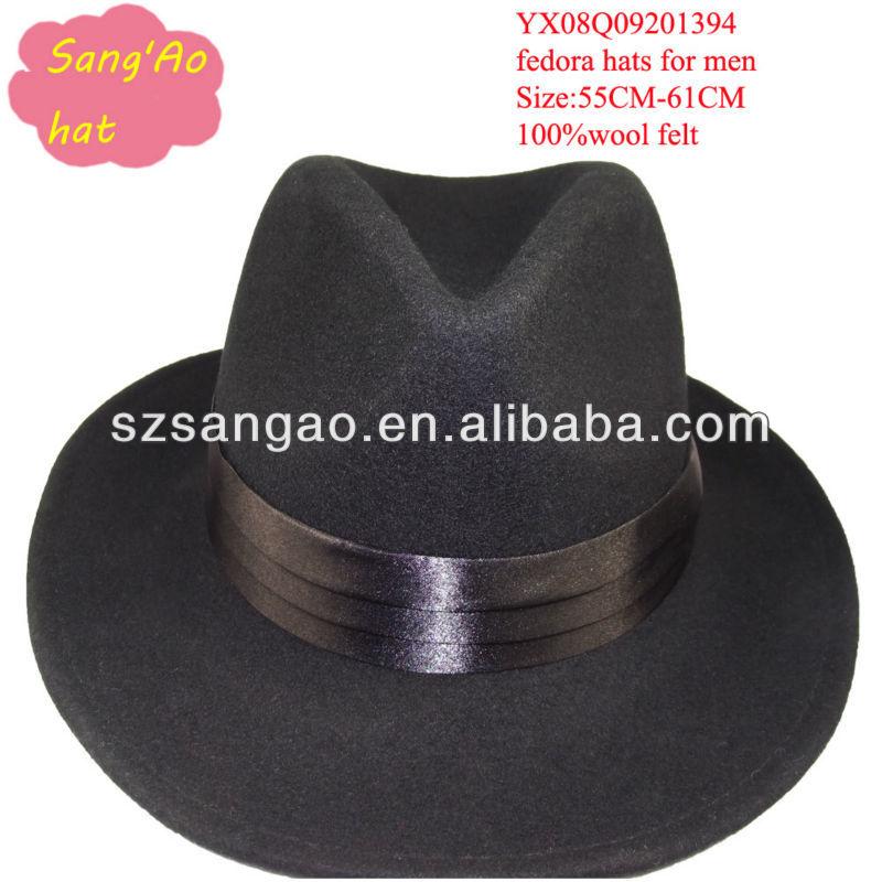 Black Crushable Trilby Hat