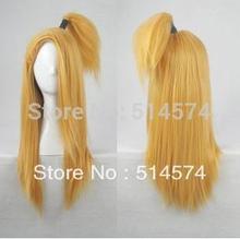 10 pcs 60 cm Naruto longo cabelo peruca meia peruca Shippuden Deidara Golden blonde hetero peruca Anime Cosplay(China (Mainland))
