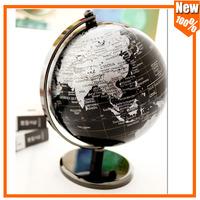 Free Shipping NEW 5in Iron base Black Reference World Globe Home Work Decor Wedding Educational Gift