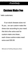 Faironly Custom Make Fee