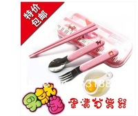 cute baby spoon ,chopsticks ,fork / spoon fork and chopsticks in one set / kids feeding supplies