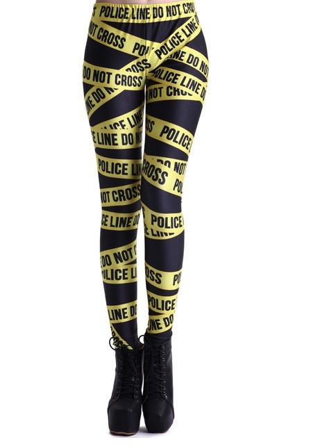 Ls057 женщины в пират леггинсы Galaxy брюки цифровая печать желтый америка полиция кордон-ванадиевой женщина леггинсы