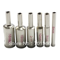 6 in 1 Diamond Coated Drill accessories Bits Hole Saw Glass Cutter Opener Bits