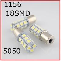 DC 12V 18 LED 5050 SMD 1156 18smd 18led BA15S White Car Bulb Stop Tail Brake Light Rear Lamp#ws