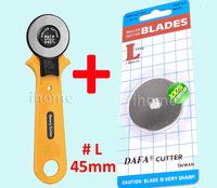 High Quality Rotary Cutter + 1PC 45mm Fabric Paper Vinyl Circular Cut Blade Patchwork Leather Craft, Taiwan DAFA, Free Shipping