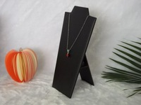 """2014 Hotsale Necklaces Pendants Display Stand Chain Bust Neck Display Holder Stand in black leatherette 8 1/2 \""""Neck Easel"""