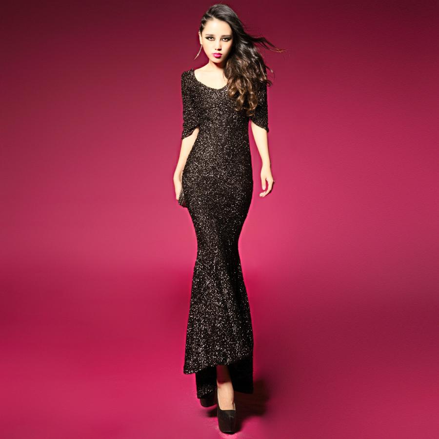 Buy Women Sexy Dress Night Club Wear 2014 Fashion Black Bling Party Evening