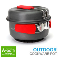 Alocs High efficiency  outdoor camping cookware camp picnic free aluminum camping pot tableware camping cooking set  Frying Pan