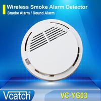 Wireless Smoke Alarm Detector / Sensor for GSM Alarm System Accessory + Free Shipping
