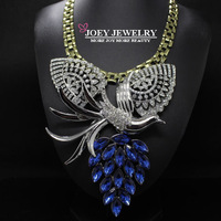 JOEY.Wholesale New Luxury Crystal Phoenix flying wings Statement Necklace Chokers Necklaces & pendants For Women Freeshipping