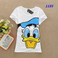 lady Brand  t shirt women cartoon new huge duck tops short-sleeve cotton t-shirt ,1185
