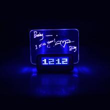 Blue Light Timer Digital Message Board Clock Alarm Temperature Calendar(China (Mainland))