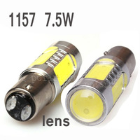 2pcs/lot Wholesale Guaranteed 100% New 1157 7.5W Lens Buid-In Chip Cree Red 1157/BAY15D 1156 Car Tail Led Bulb Light  #v