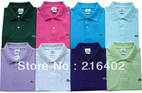 new brand cotton casual slim shirt man short sleeve candy color tee shirt size M/L/XL/XXL/
