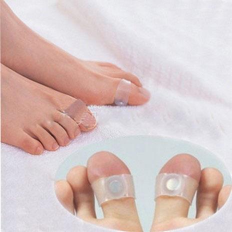 Купить Крем для похудения 1Pair.Slimming Silicone Foot Massage Magnetic Toe Ring Fat Burning F or Weight Loss Health Care creams