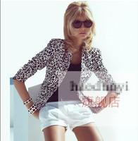 WOMAN SUIT BLAZER FOLDABLE BRAND JACKET women clothes suit leopard Coat  Women Outwear tops XS-2XL Free shipping
