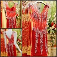 Ultimate luxury crystal formal dress formal dress toast the bride married formal dress evening dress xj07647