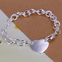 2014 Hot sale H281  Wholesale 925 silver bracelet, 925 silver fashion jewelry love charm bracelet  best gift