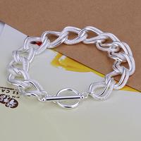 2014 Hot sale H290  Wholesale 925 silver bracelet, 925 silver fashion jewelry round charm bracelet  best gift