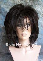 queen brazilian women's made Kanekalon wigs SALE MEDIUM/ DARK BROWN LADY WOMENS/ MENS DRAG WIGS