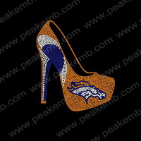 Rhinestone High Heels Iron On Transfers Free Custom Design Service Free Shipping  30Pcs/Lot