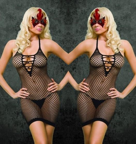 Lowest price sexy net bodysuit teddies lingerie stockings black women European size NO G string drop shipping ML215(China (Mainland))