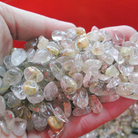 wholesale real natural hair crystal/rutilated quartz crystal stone gravel/polishing/degaussing&healing /protect health