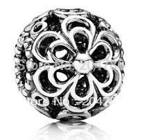 Silver Picking daisies charm European Bead Compatible with Snake chain Bracelets #450(China (Mainland))