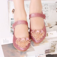 Child single shoes female 2013 princess shoes children leather flat autumn casual children shoes pointed toe