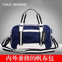 Free shipping 2014 new designer brand fashion men canvas bag shoulder messenger travel gym hangbag duffel sports handbags items