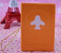 free shipping Orange 3d passport holder passport cover testificate set id cards set