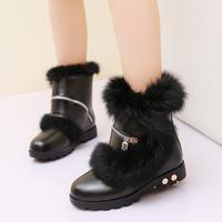 2013 autumn and winter children shoes female child low boots plush snow boots child boots parent-child boots