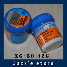 Freeshipping !!! promotions !!! HK MECHANIC 42g Sn63/Pb67 Solder Paste Flux XG-50 For Hakko 936/Saike 852D++ Soldering Station(China (Mainland))
