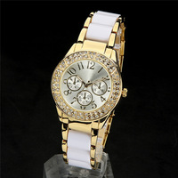 Luxurious Japan Movement Brand Quartz Watch Women Men Fashion Rhinestone Dress Wristwatch-9011
