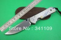 NEW Chris Reeve CNC D2 Blade Sebenza 21 Style Full TC4 TITANIUM Handle Folding knife FREE SHIPPING