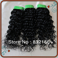 Muse Hair:Best 100%Brazilian Human Hair Remy Extension100g/pc 3pcs/lot Color#1b Deep Wave  Mixed Length Free DHL kinky curl