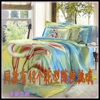 Textile series active large flower print cotton 100% cotton four piece set bed sheets kit