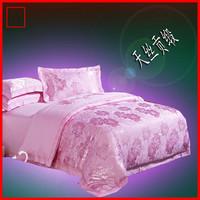 Tencel cotton winter satin jacquard four piece set bed sheets wedding bedding package
