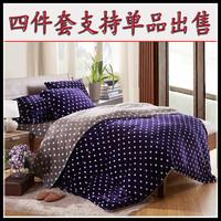 High quality velvet duvet cover coral fleece bed sheet pillow case bedding product piece set velvet