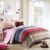 Textile 100% cotton four piece set fashion red four piece bedding set brief