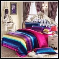 Super soft velvet piece set home bedding home textile thermal short plush piece set bed sheets kit