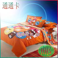 Home textile bedding bed sanded four piece set bed sheets duvet cover cotton 100% cotton piece set