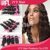 queen hair product brazilian virgin hair 4pcs/lot,top quality brazilian deep wave, grade 6A human hair weave wavy extension
