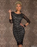 N129 New Arrival Women's Full Lace Sexy Middle Sleeve Skinny Dress, Fashion Club Wear, Bar Dress