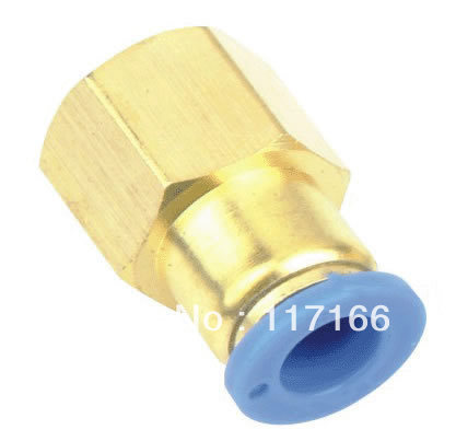 Pneumatic Quick Connect in pneumatic parts PCF tube(hose) fittings PCF6-04 pneumatic accessory I.D 8MM thread 04(China (Mainland))