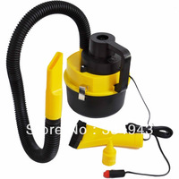 Free Shipping New Portable Wet&Dry Collector Inflator Air Auto Car Home Dust Vacuum Cleaner